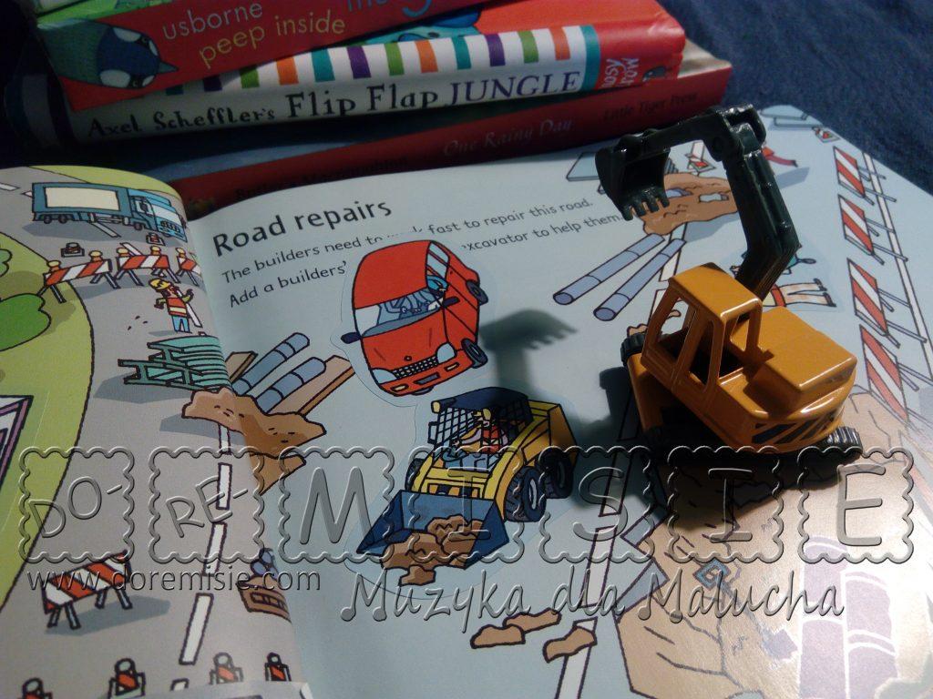 doremisie zajęcia język angielski dla dzieci książka building sites usborne koparka